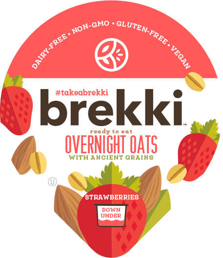 Product label for Strawberries Overnight Oats