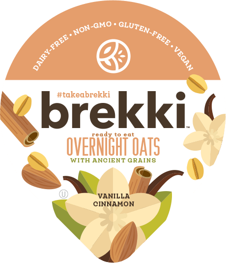 Product label for Vanilla Cinnamon Overnight Oats